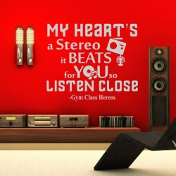 Sticker My heart's stereo - Gym Class Heroes