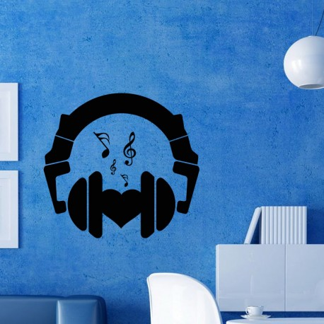 Sticker Design casque et coeur