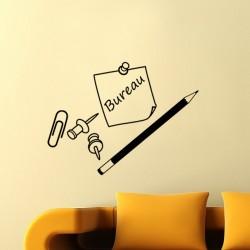 Sticker Crayon, punaise et trombone