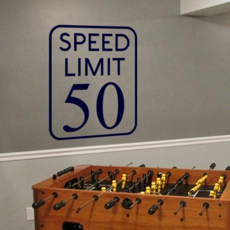 Sticker limite de vitesse