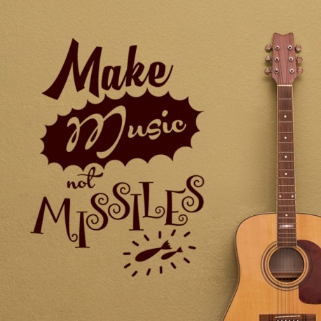 Sticker make music not missiles