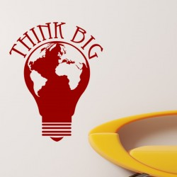 Sticker Think big ampoule