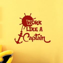Sticker Work like a captain