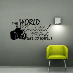 Sticker The world is so beautiful