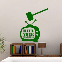 Sticker Kill your television