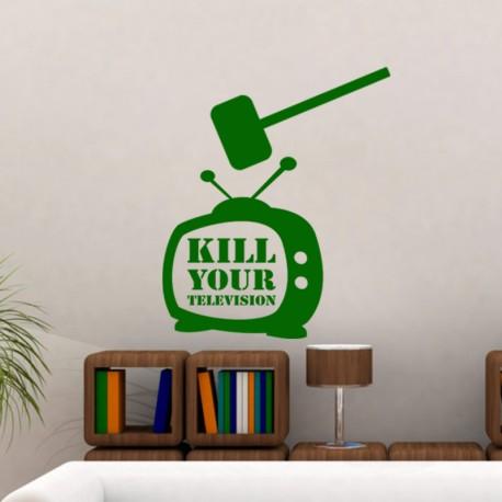 Sticker Kill your television
