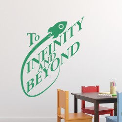 Sticker Vers l'infini et au-delà