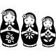 Sticker poupées russes