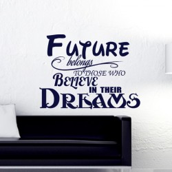 Sticker Futur belongs to those who believe in their dreams