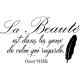 Sticker La beauté selon Oscar Wilde