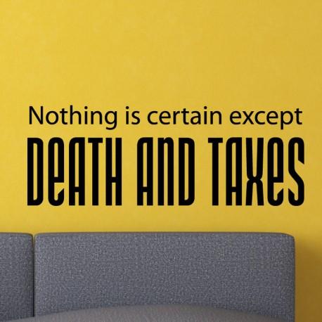 Sticker Mort et les impôts