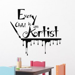 Sticker Every child is an Artist