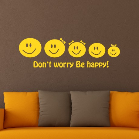 Sticker Famille heureuse de smileys