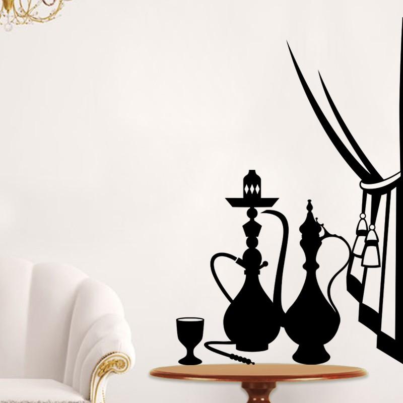 sticker coquetier th i re rideaux et chicha pas cher stickers d co orientale discount. Black Bedroom Furniture Sets. Home Design Ideas
