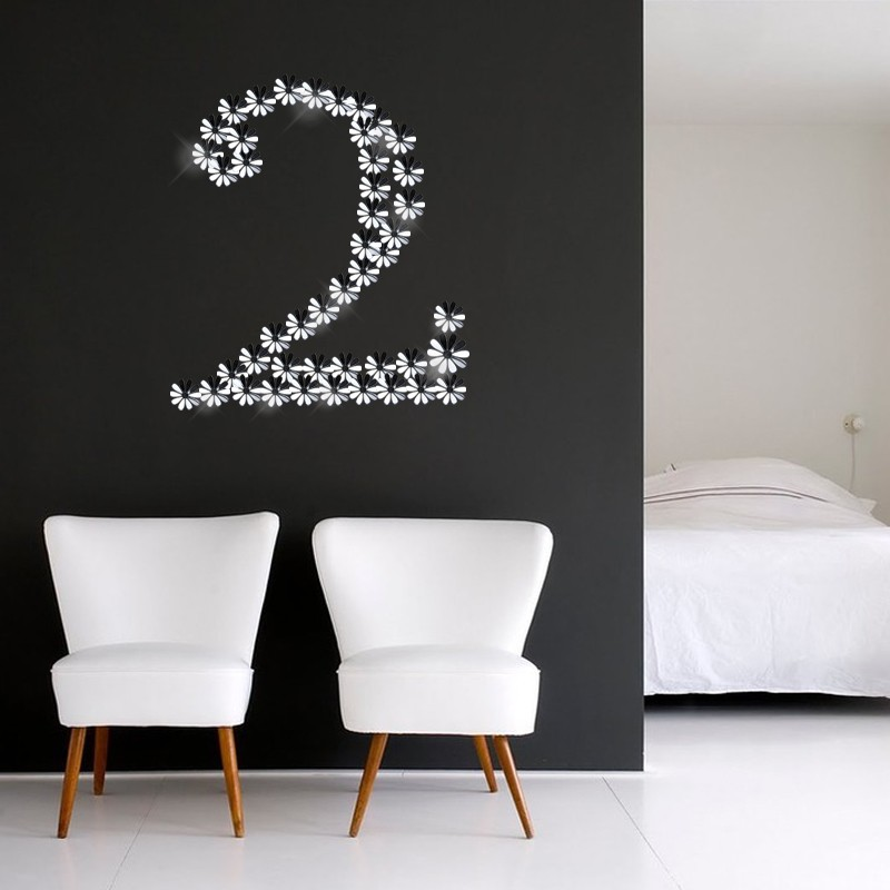 sticker fleurs 3d chics adh sives miroir pas cher stickers design discount stickers muraux. Black Bedroom Furniture Sets. Home Design Ideas