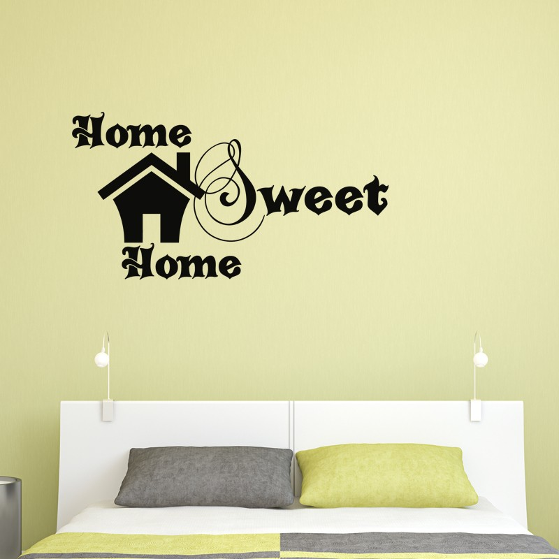 Sticker design home sweet home pas cher stickers design discount stickers muraux madeco - Home sweet home designs ...