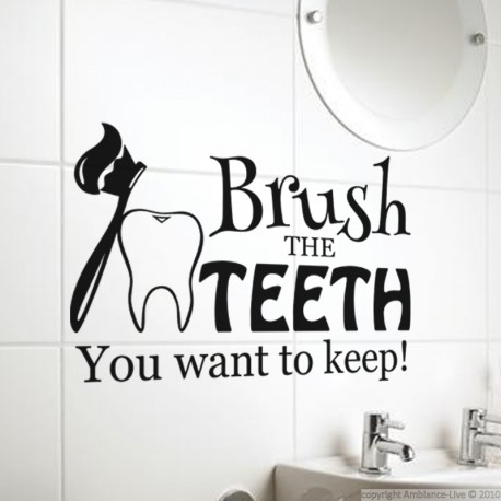 Sticker Brush the teeth