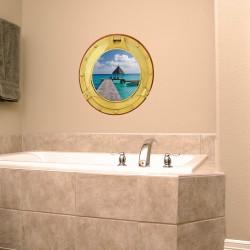 Sticker Trompe l'oeil Bora Bora