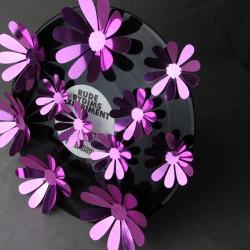Sticker fleurs 3D chics adhésives MIROIR VIOLET