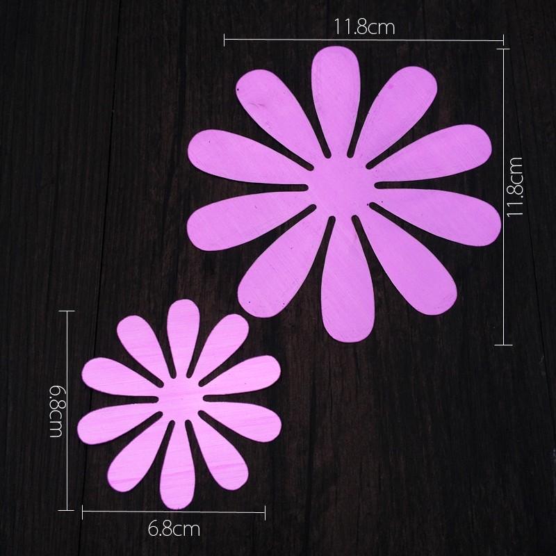 Sticker fleurs 3d chics adh sives miroir violet pas cher - Stickers miroir pas cher ...