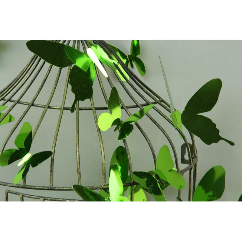 Stickers papillons 3D miroirs vert pas cher - Stickers ...