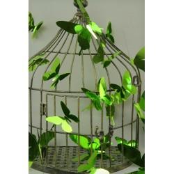 Stickers papillons 3D miroirs vert