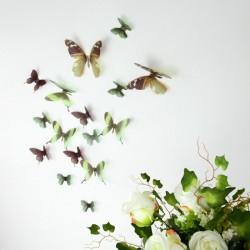 Sticker papillons 3D verts
