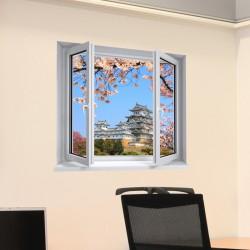 Sticker trompe l'oeil Château Himeji