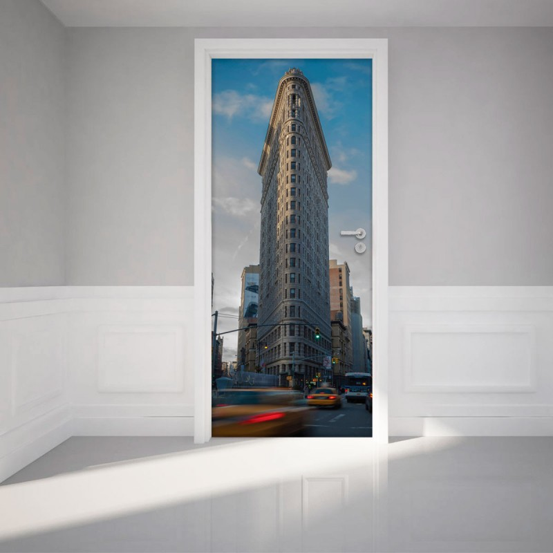 Sticker porte new york flatiron building pas cher stickers design discoun - Sticker porte new york ...