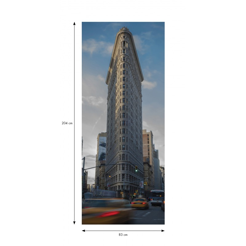 Sticker porte new york flatiron building pas cher for Decoration porte new york