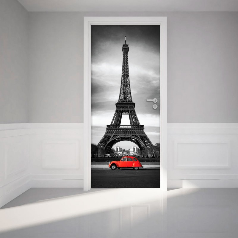 Sticker porte tour eiffel pas cher stickers design for Stickers tour eiffel chambre