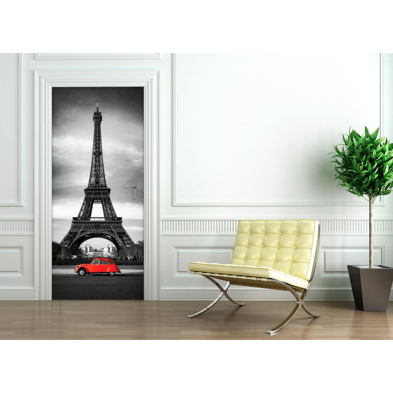 sticker porte tour eiffel pas cher stickers design discount stickers muraux madeco stickers. Black Bedroom Furniture Sets. Home Design Ideas