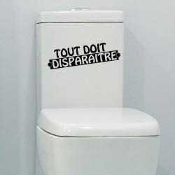 Sticker Tout doit disparaître