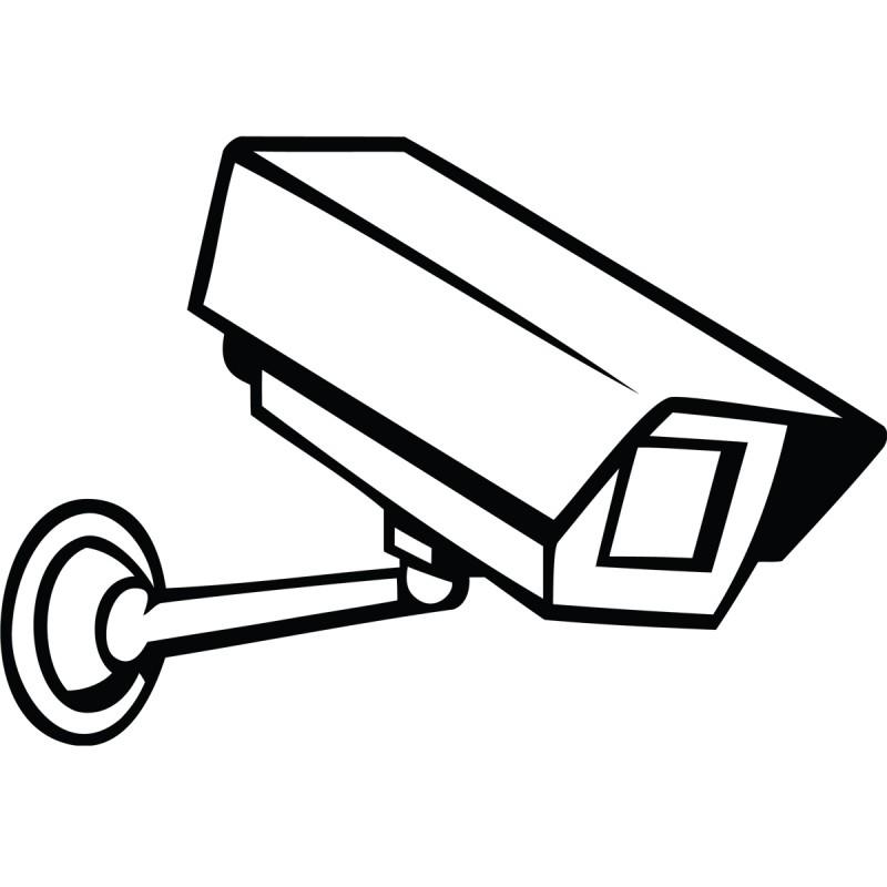 Sticker Caméra de surveillance pas cher - Stickers Design ...