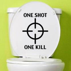Sticker cible d'un projectile