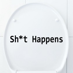Sticker Sh*t happens