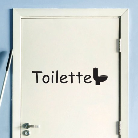 Sticker porte toilette pas cher stickers design discount for Stickers wc porte