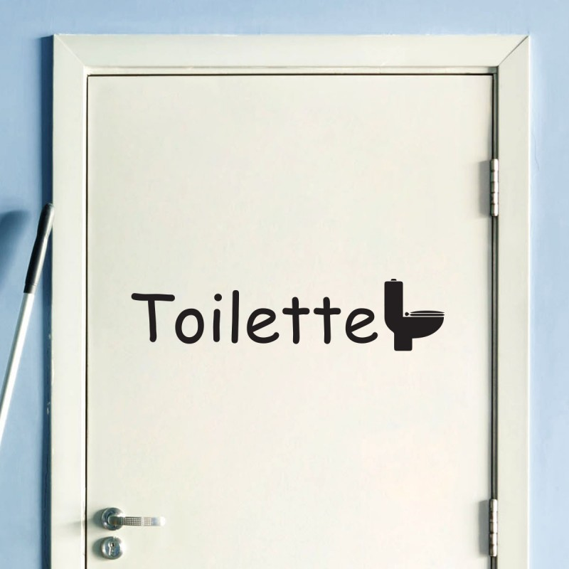 Sticker porte toilette pas cher stickers design discount for Porte toilette