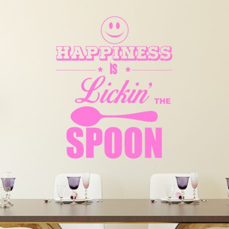 Sticker Happiness is lickin' the spoon