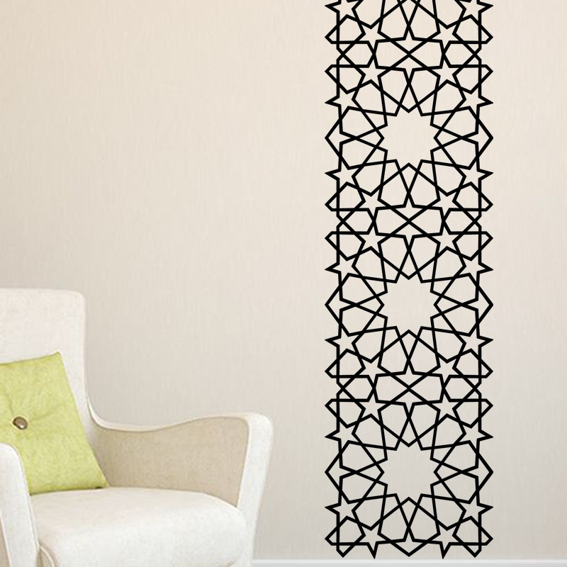 stickers arabesque oriental toiles carr es pas cher stickers design discount stickers. Black Bedroom Furniture Sets. Home Design Ideas