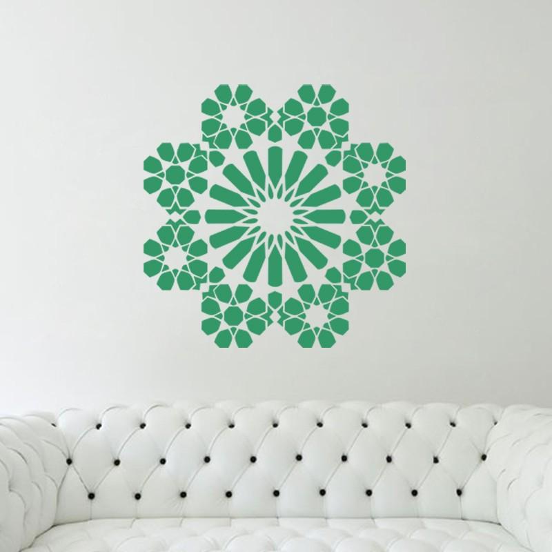 sticker islam en forme de fleur pas cher stickers design discount stickers muraux madeco. Black Bedroom Furniture Sets. Home Design Ideas