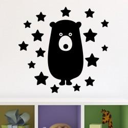 Sticker ours et étoiles