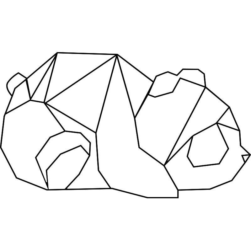 Sticker panda en origami pas cher stickers enfants - Tete de panda dessin ...