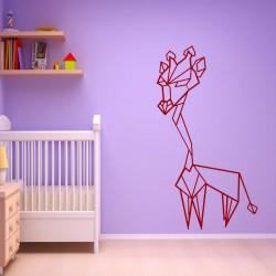 Sticker girafe en forme gémoétrique