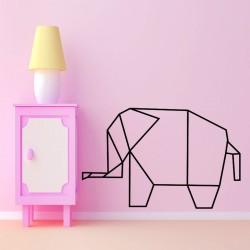 Sticker éléphant en origami
