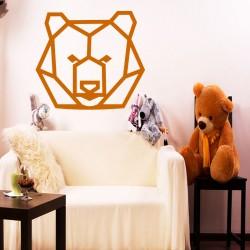 Sticker tête d'ours en forme géométrique 2