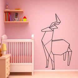 sticker Antilope en origami