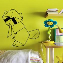 Sticker Raton laveur en origami