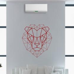 Sticker tête de lion en forme géométrique