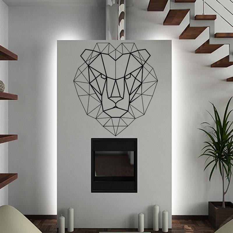 sticker t te de lion en origami pas cher stickers. Black Bedroom Furniture Sets. Home Design Ideas